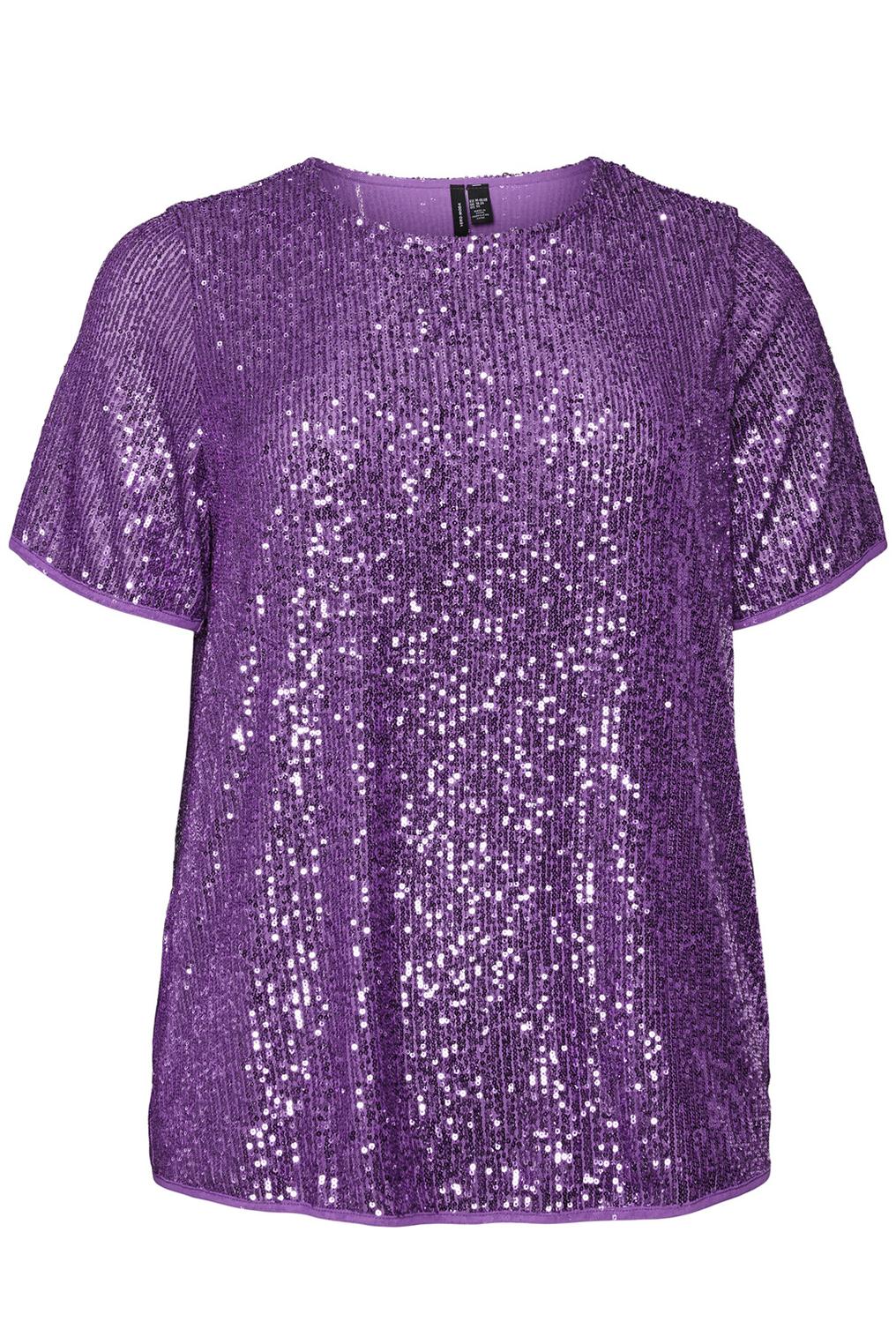 VERO MODA curve shirt glitter VMELLA