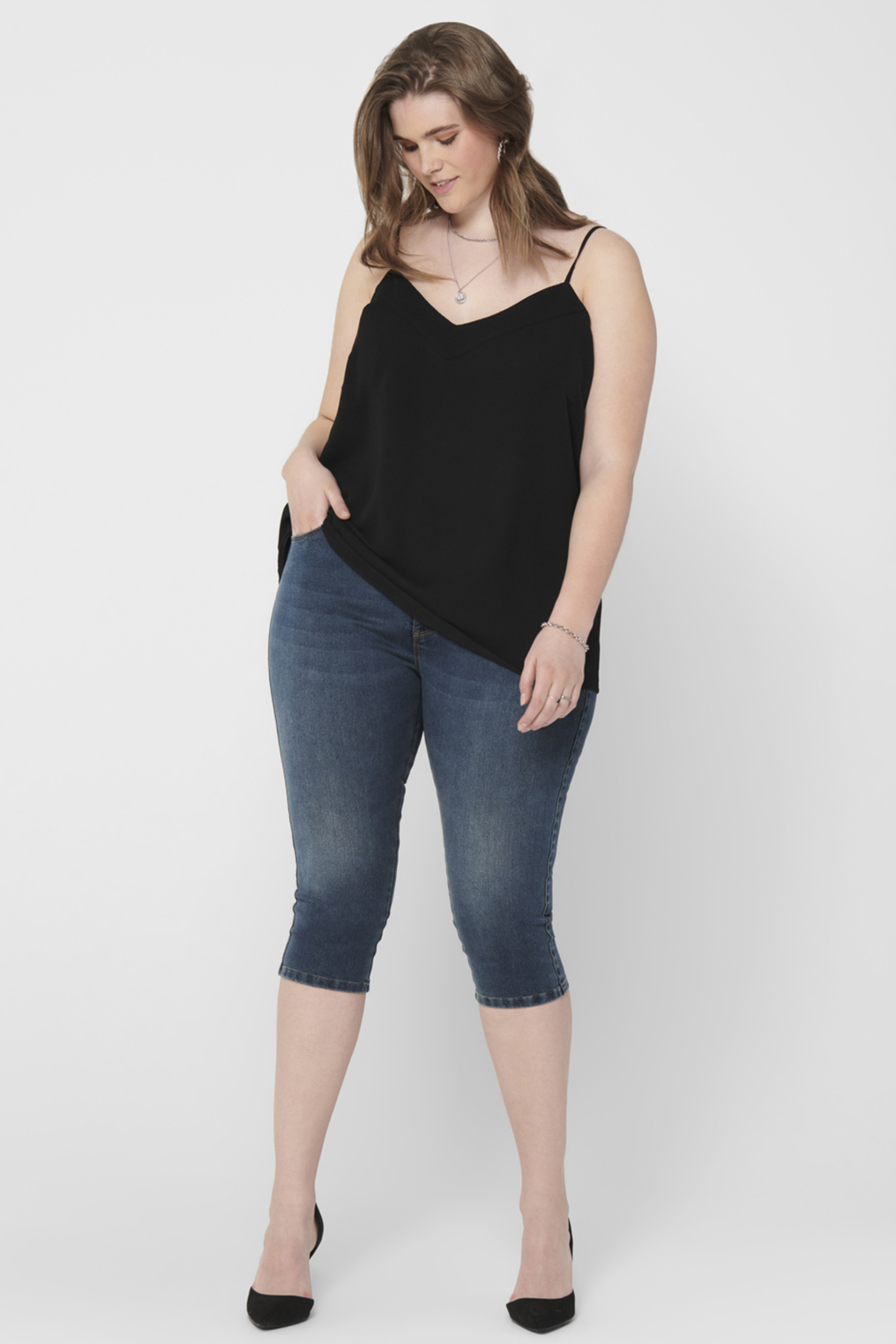 ONLY Carmakoma jeans AUGUSTA 3/4 lan