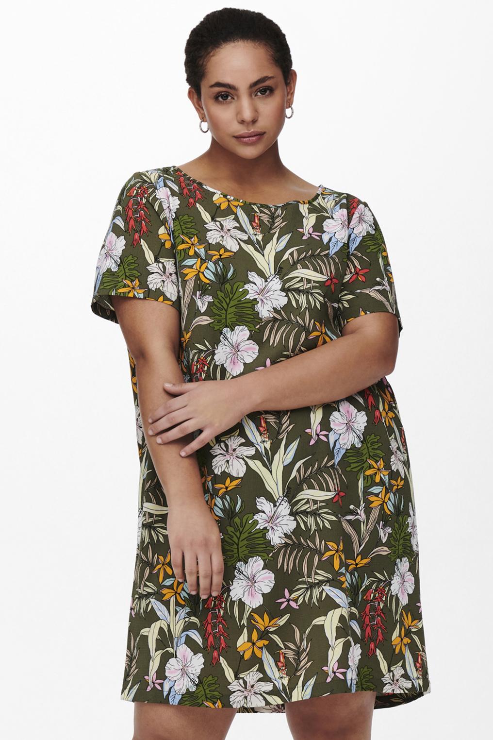 ONLY Carmakoma jurk INA LUX print
