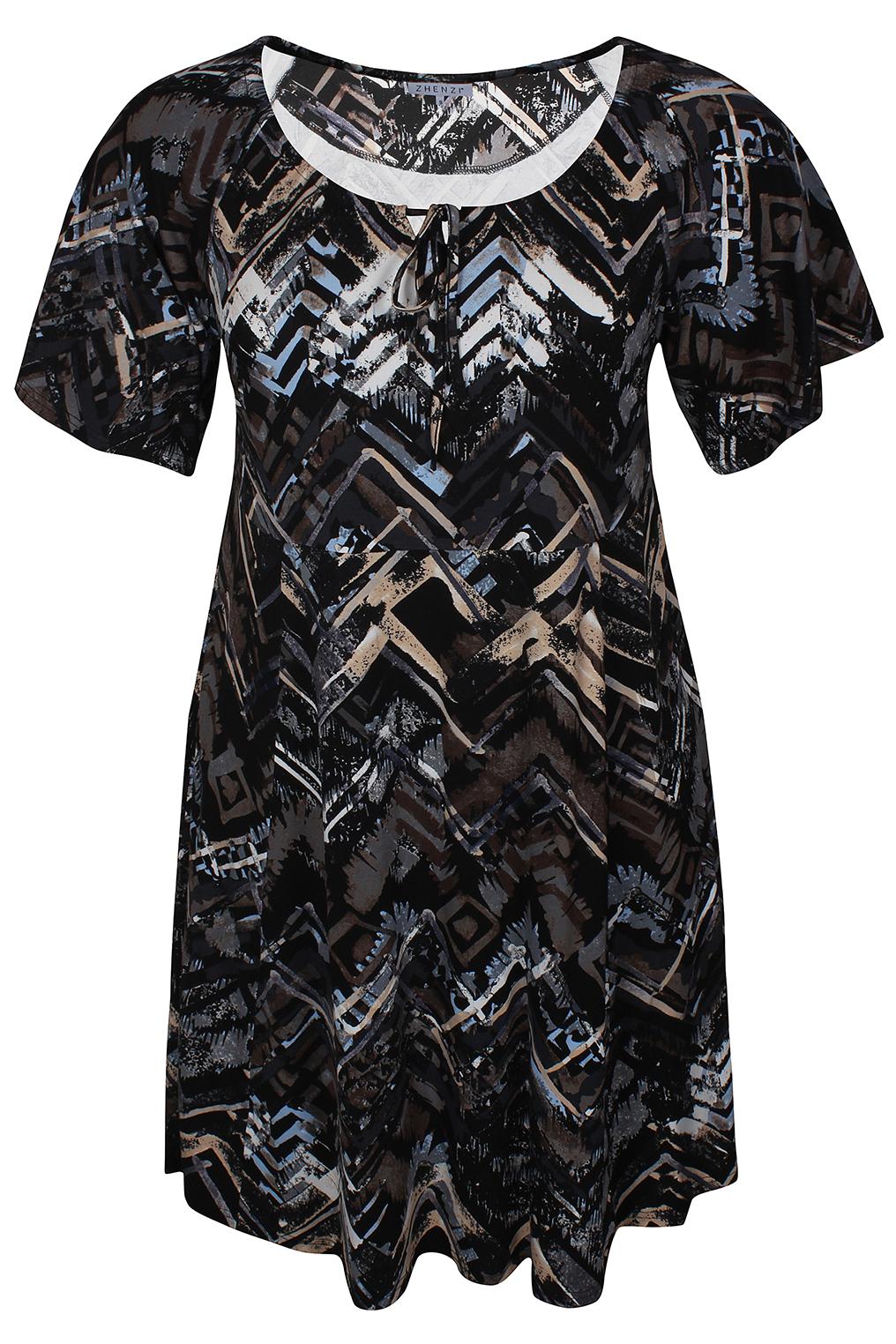 Zhenzi jurk Ayla tricot print