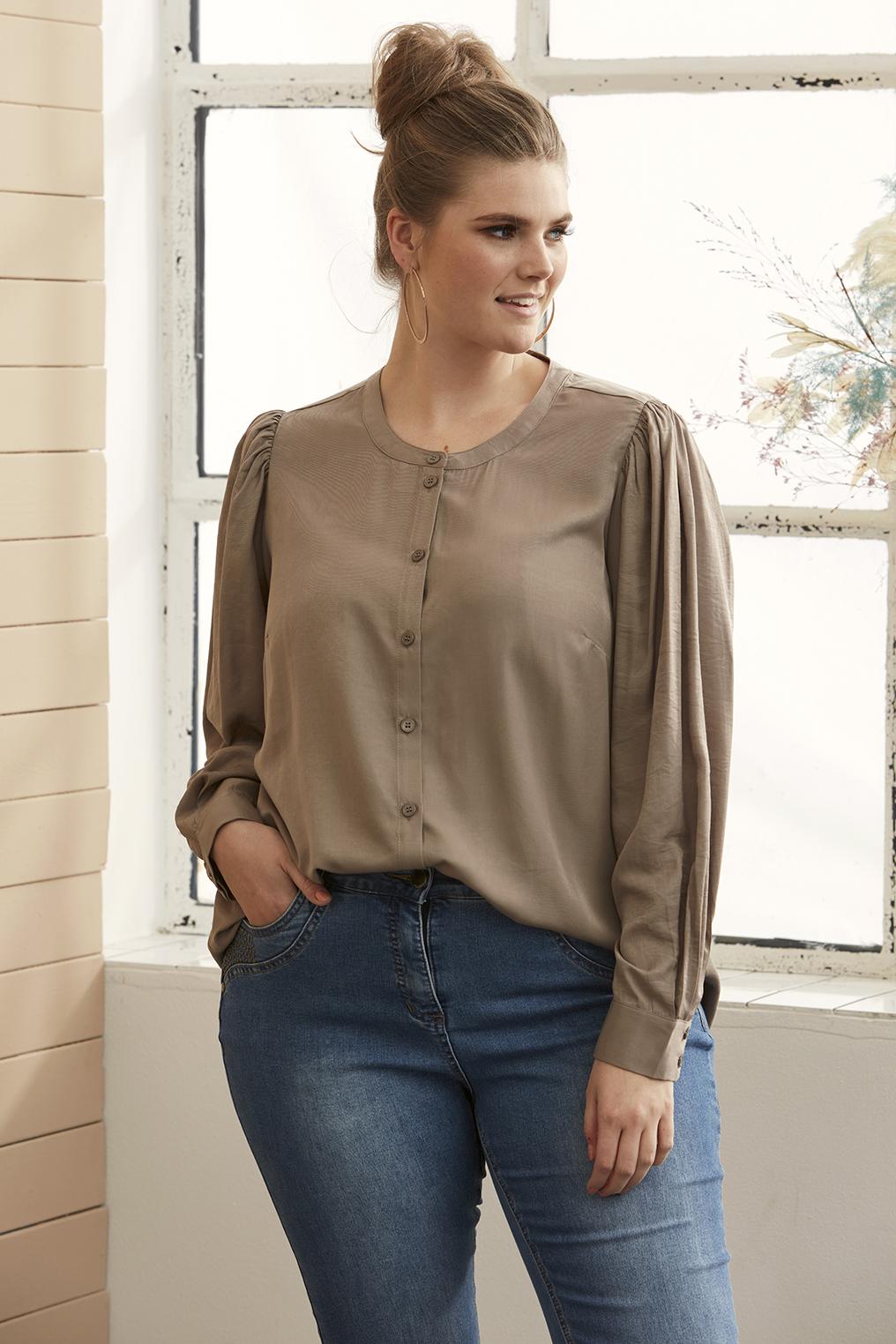 Zhenzi blouse HAZEL plooi mouw