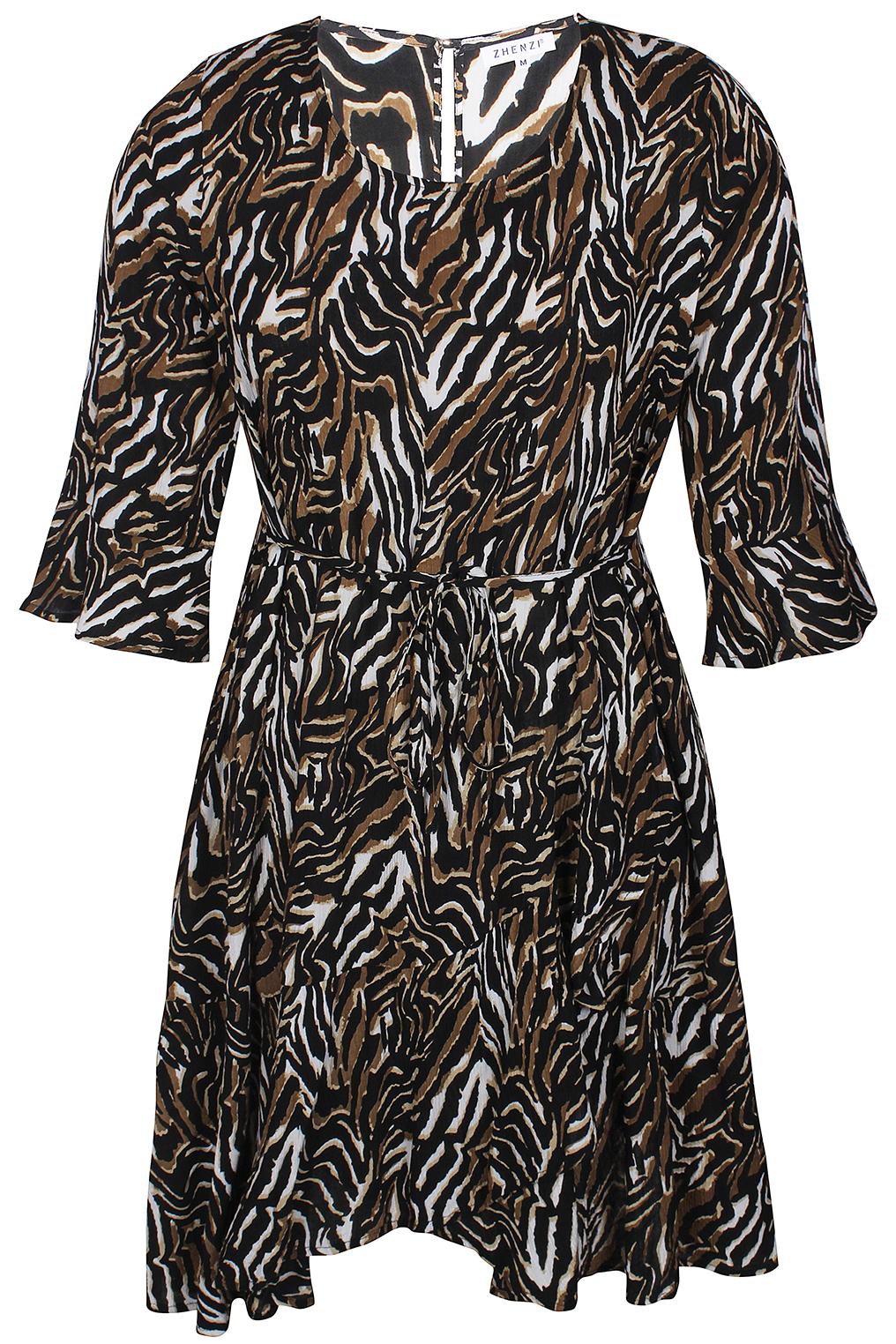 Zhenzi jurk Novah overslag onderkant