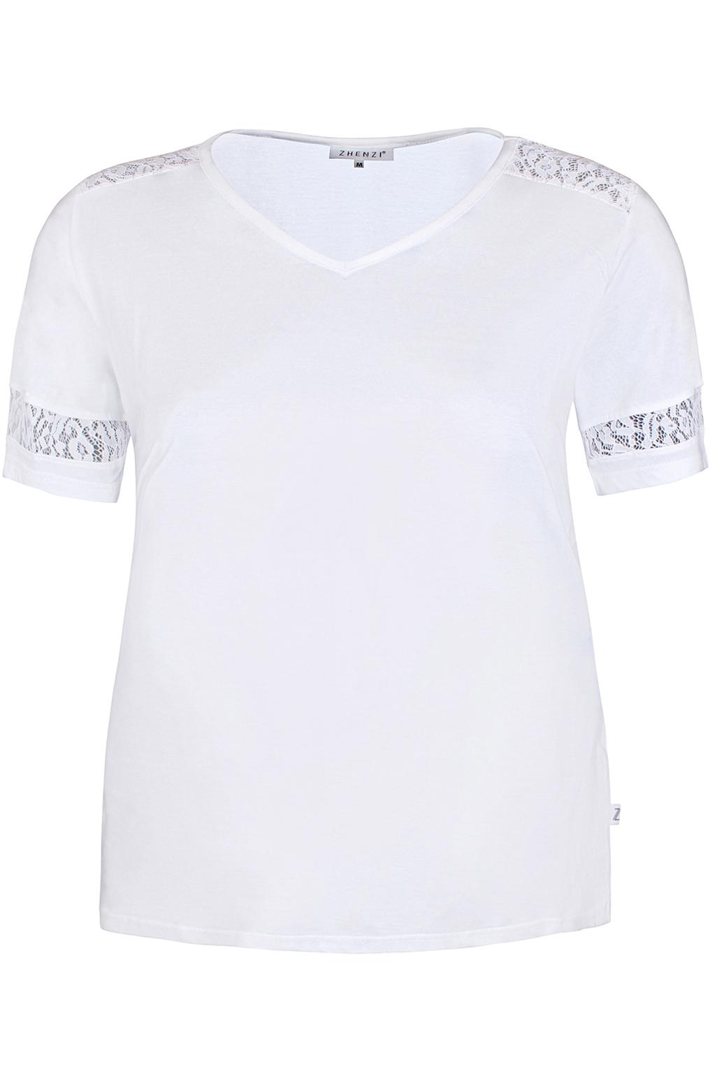 Shirt ALBERTA Zhenzi kant details