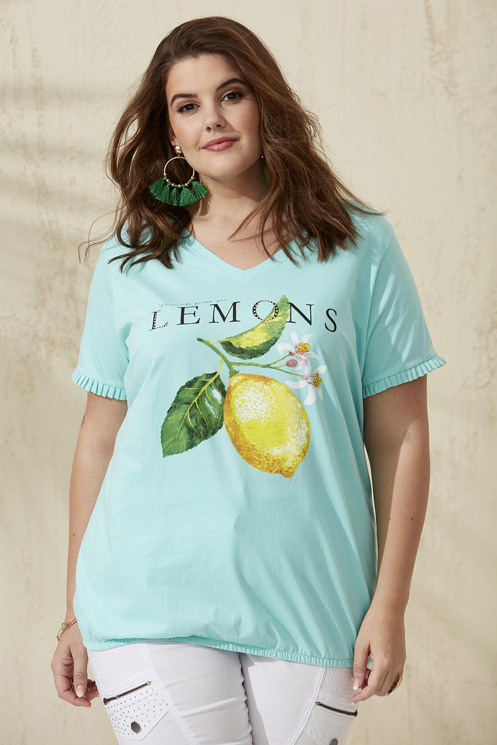 Shirt Zhenzi ALVILDE citroen print