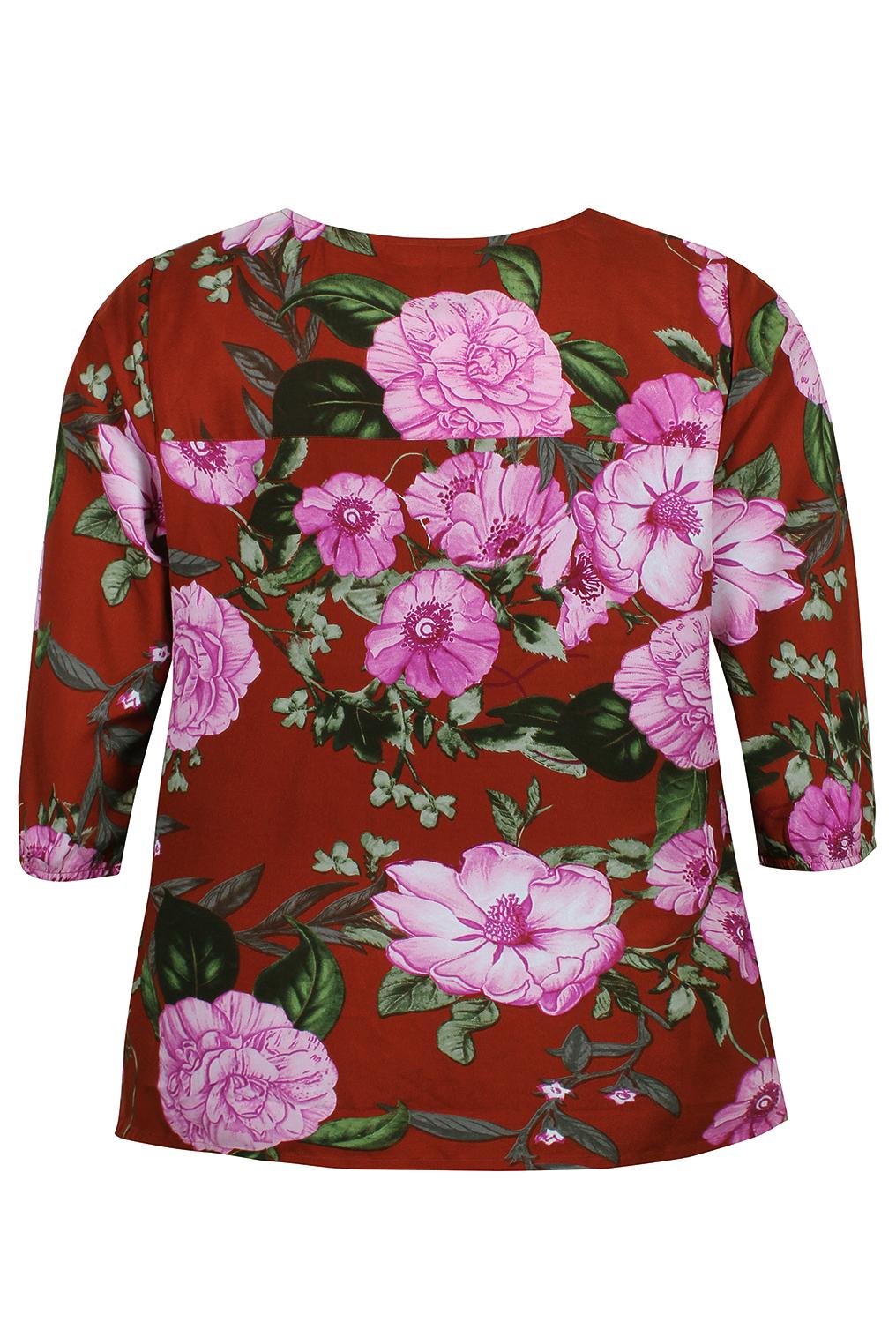 Blouse LISE Zhenzi bloem print