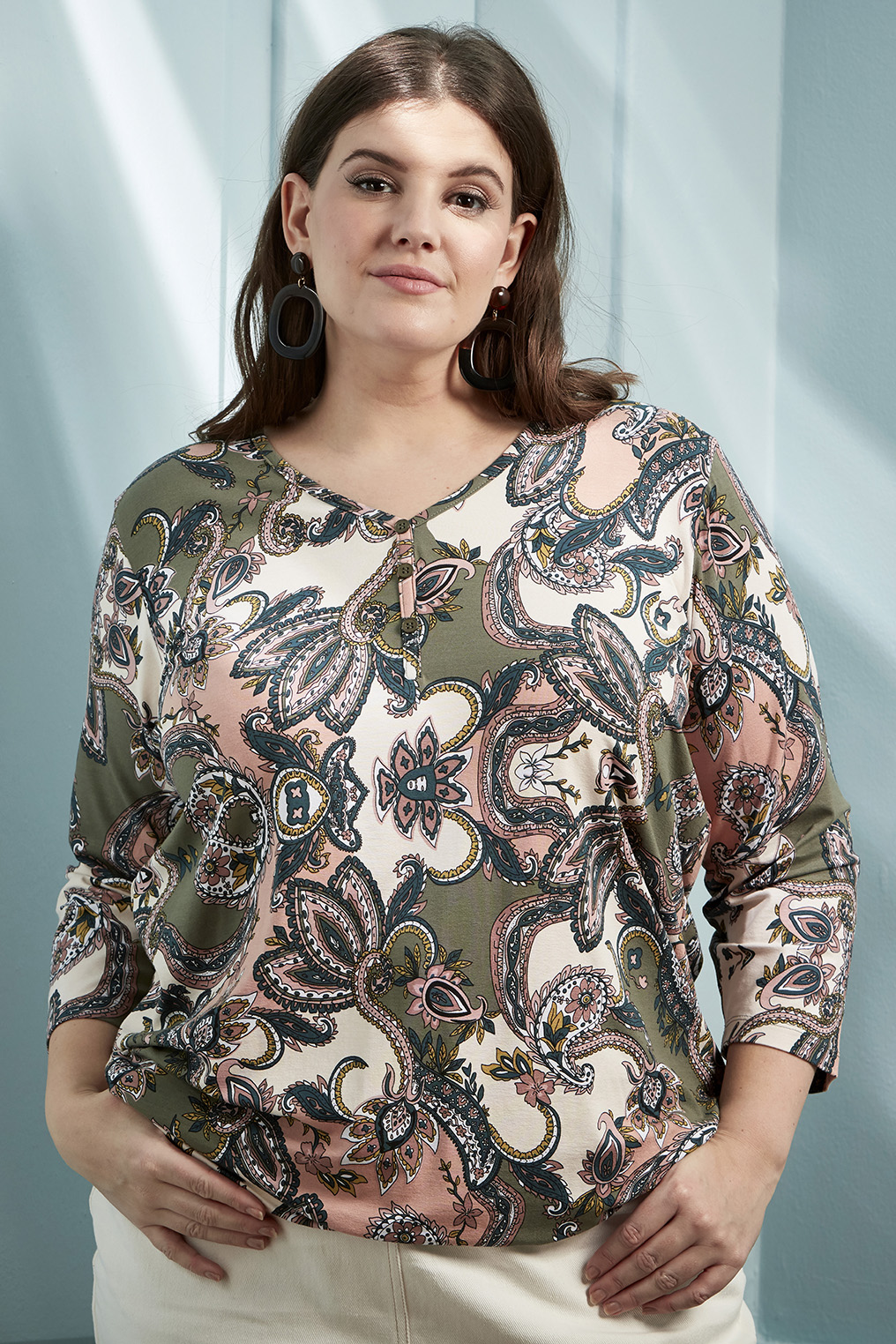 Shirt Gros Zhenzi V hals print