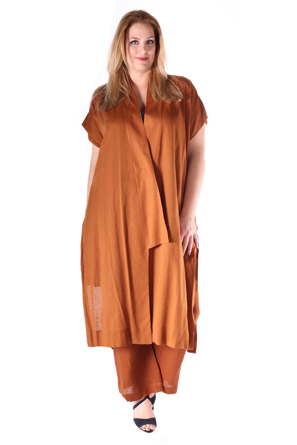 Blouse Mat fashion lang linnen
