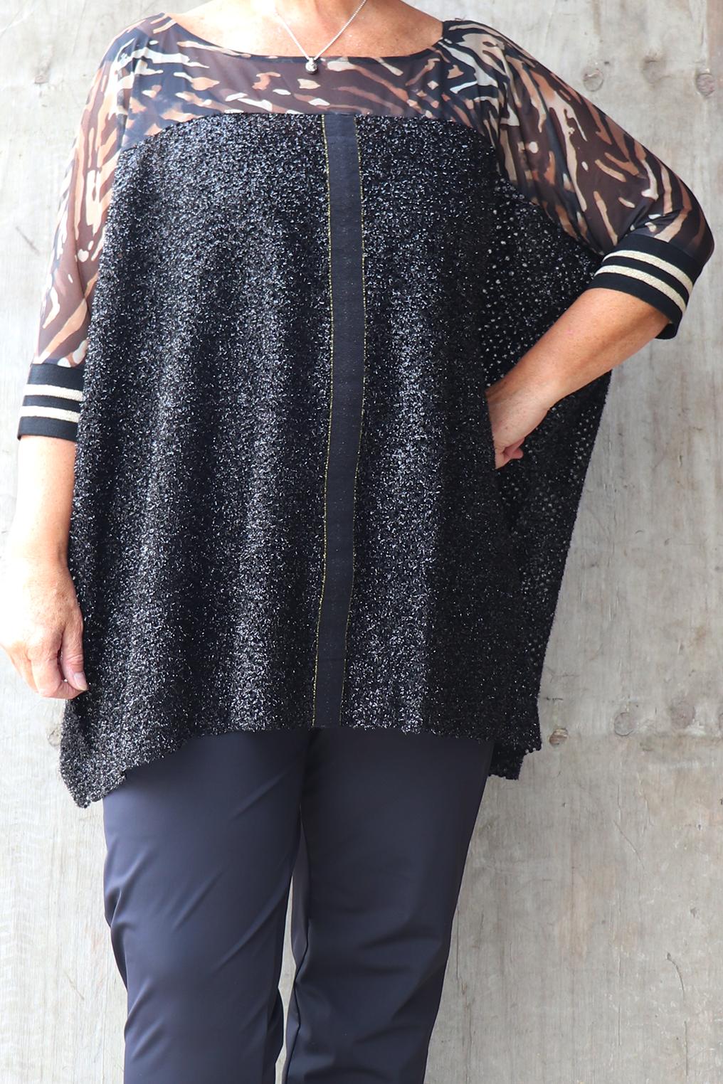 Tuniek Mat fashion voile met glitter