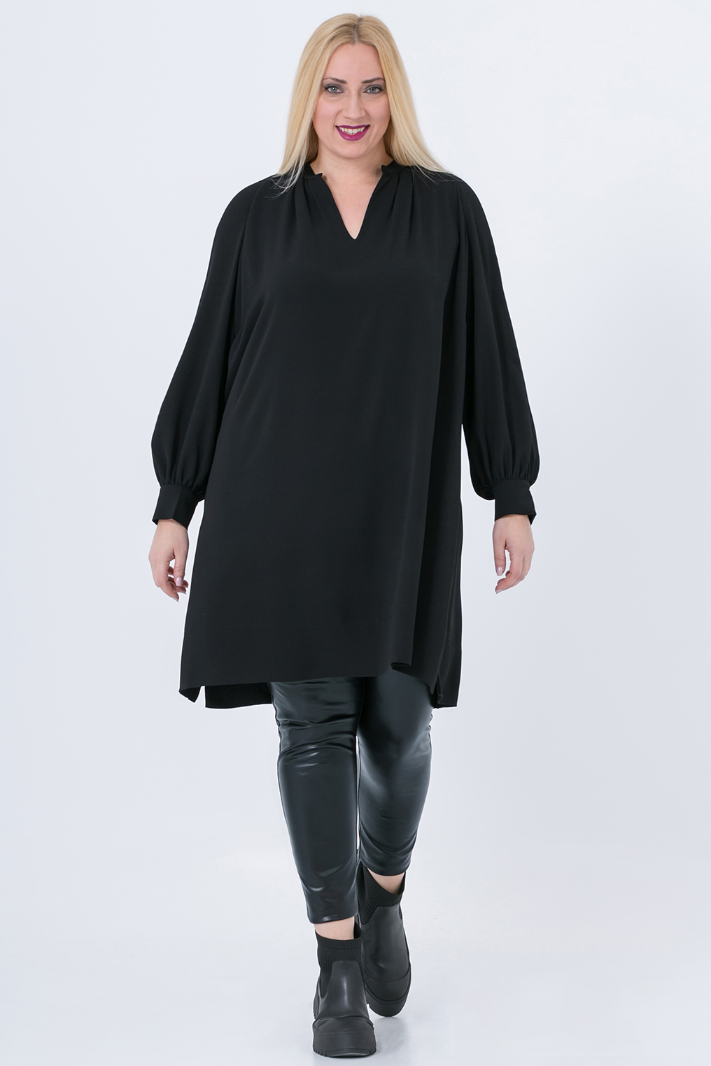 Tuniek Mat fashion pofmouwen