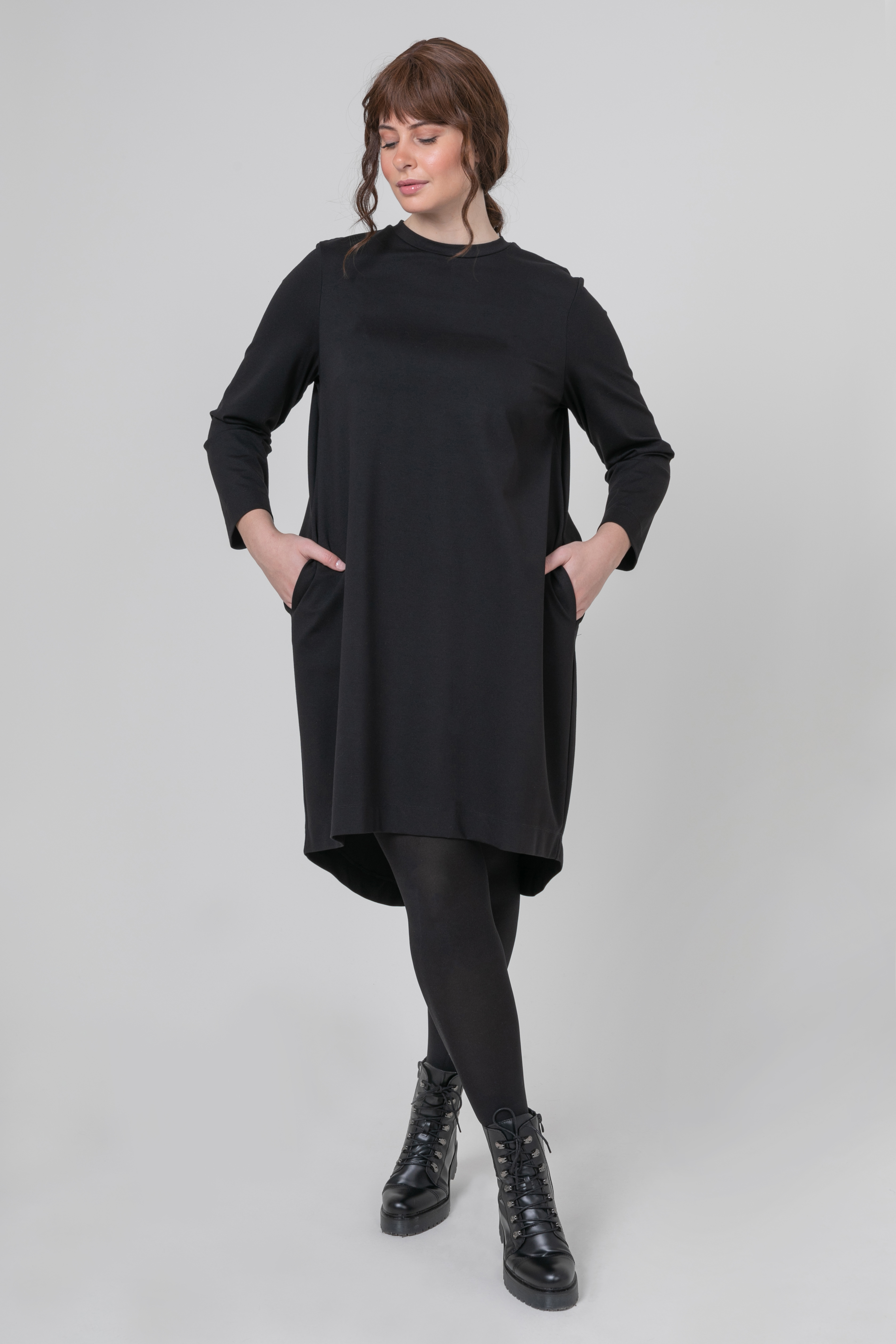 Mat fashion tuniek voor knielang