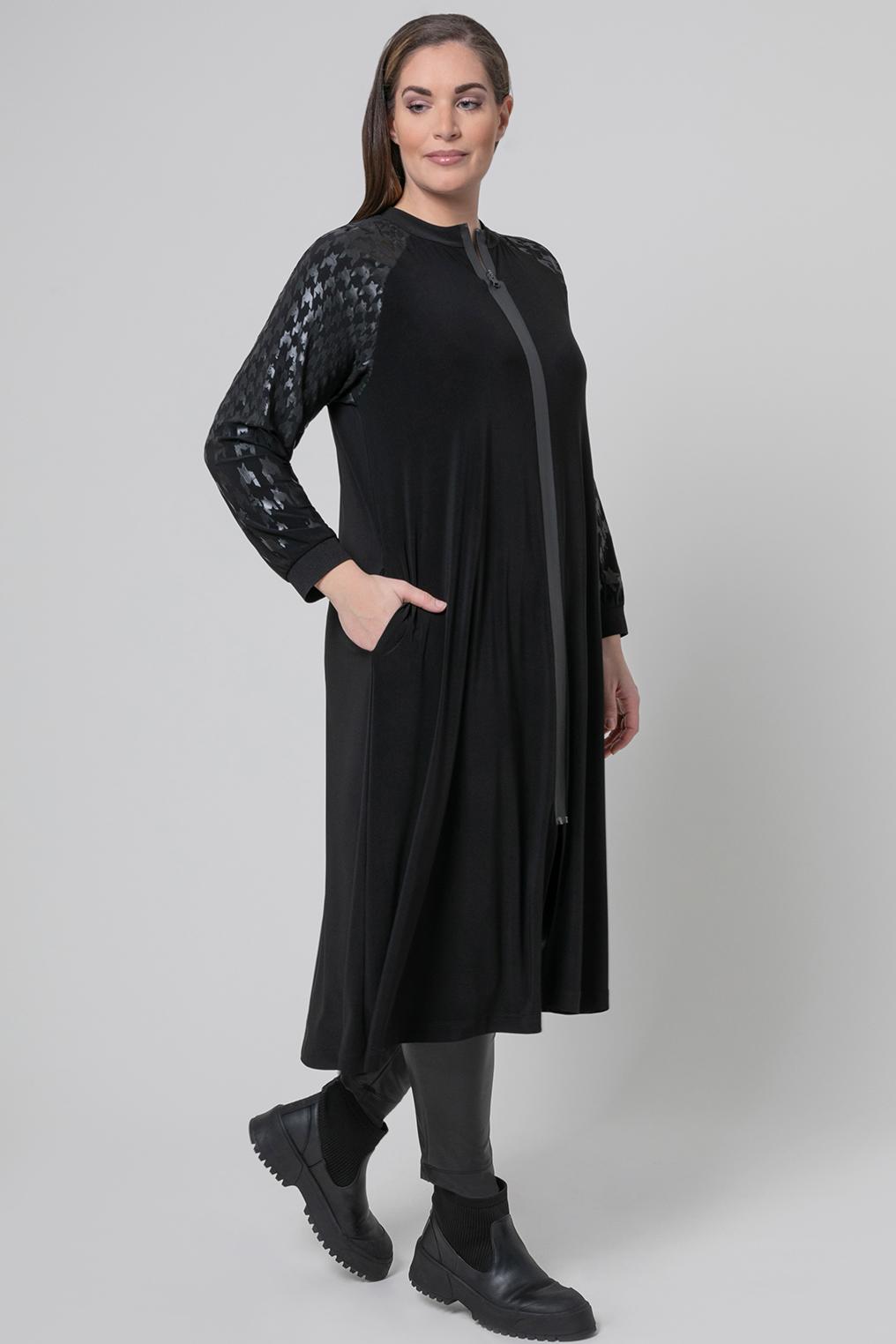 Mat fashion jurk rits sluiting
