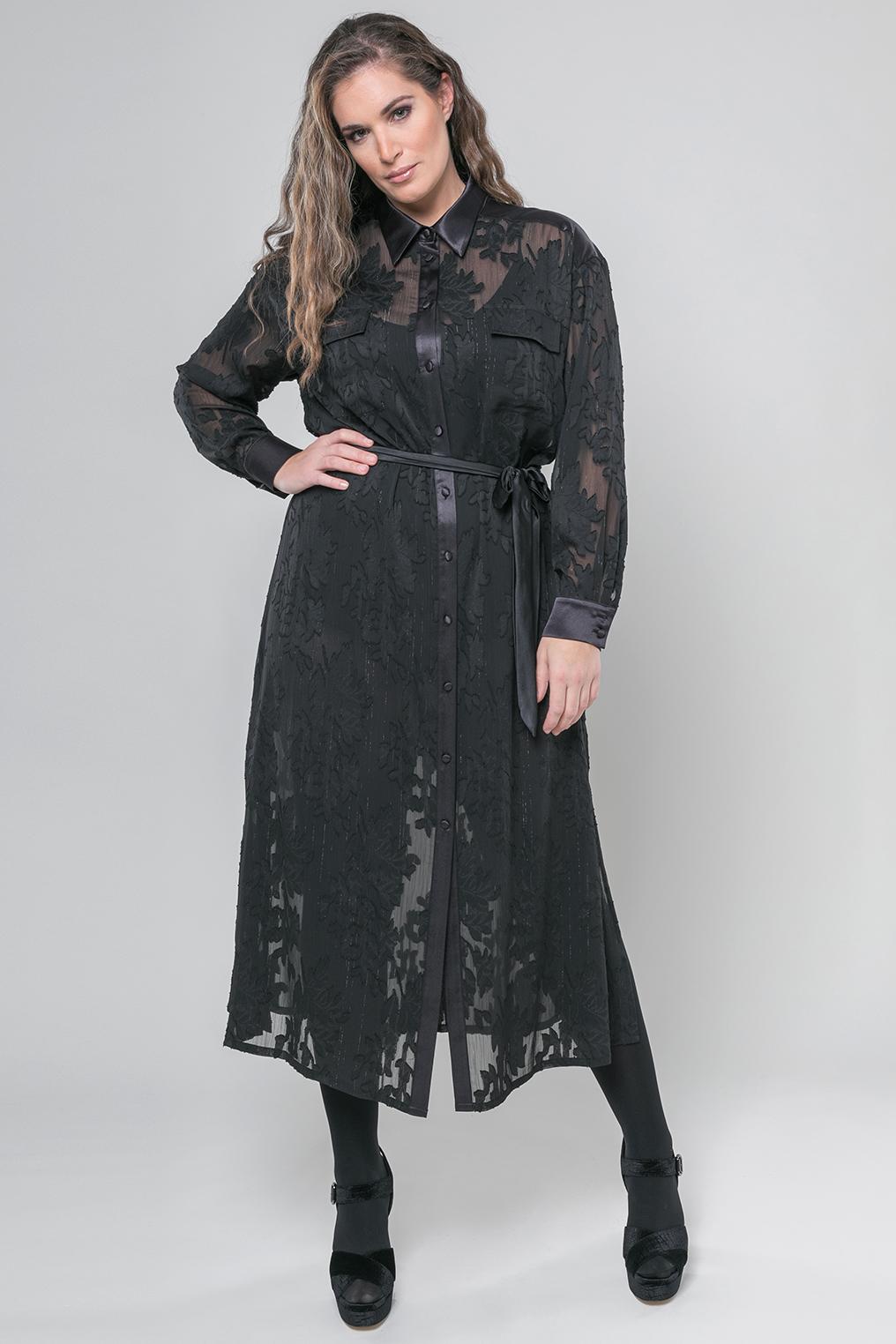 Mat fashion jurk opengewerkt
