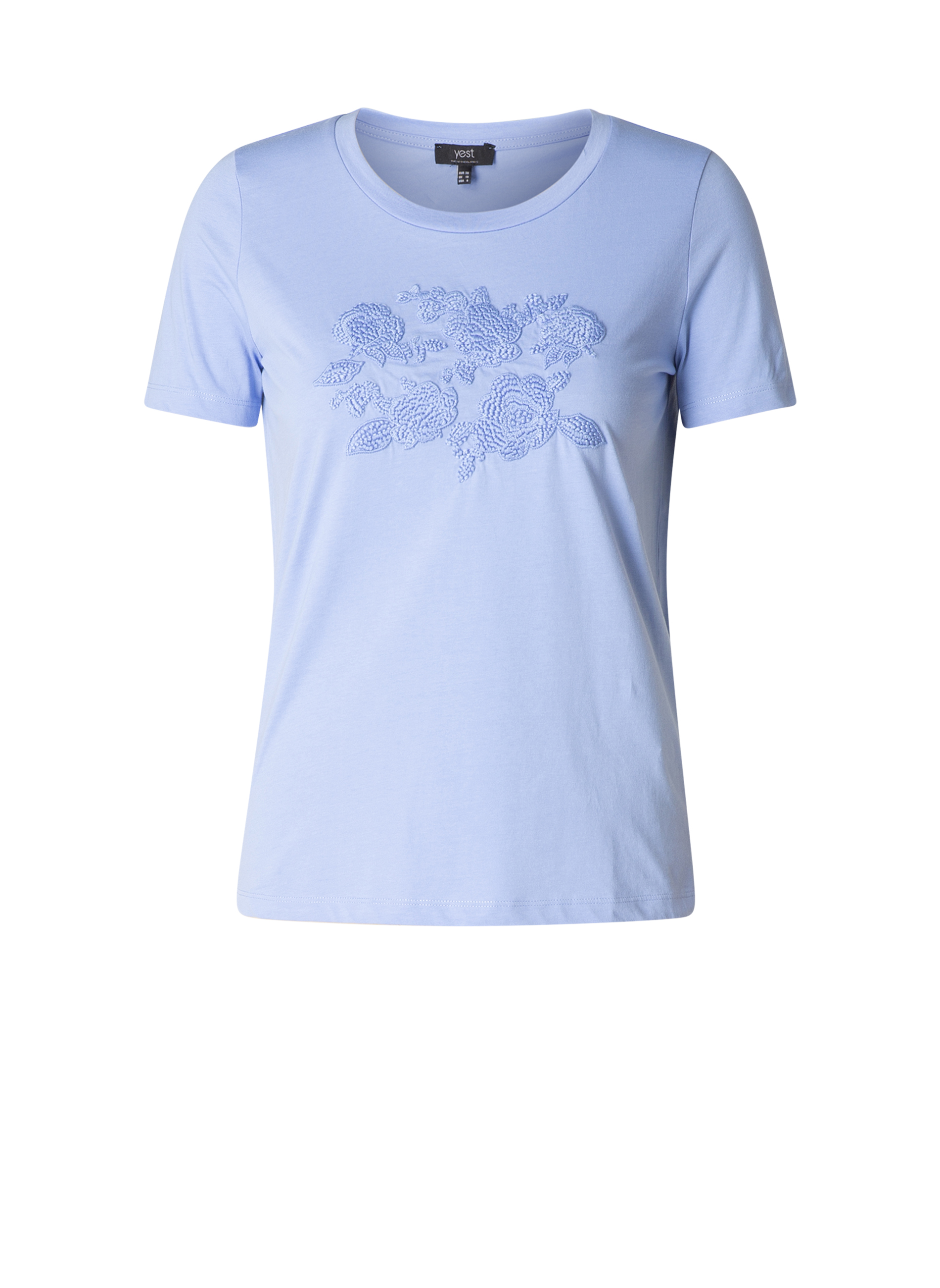 Shirt Yesta bloemen borduur