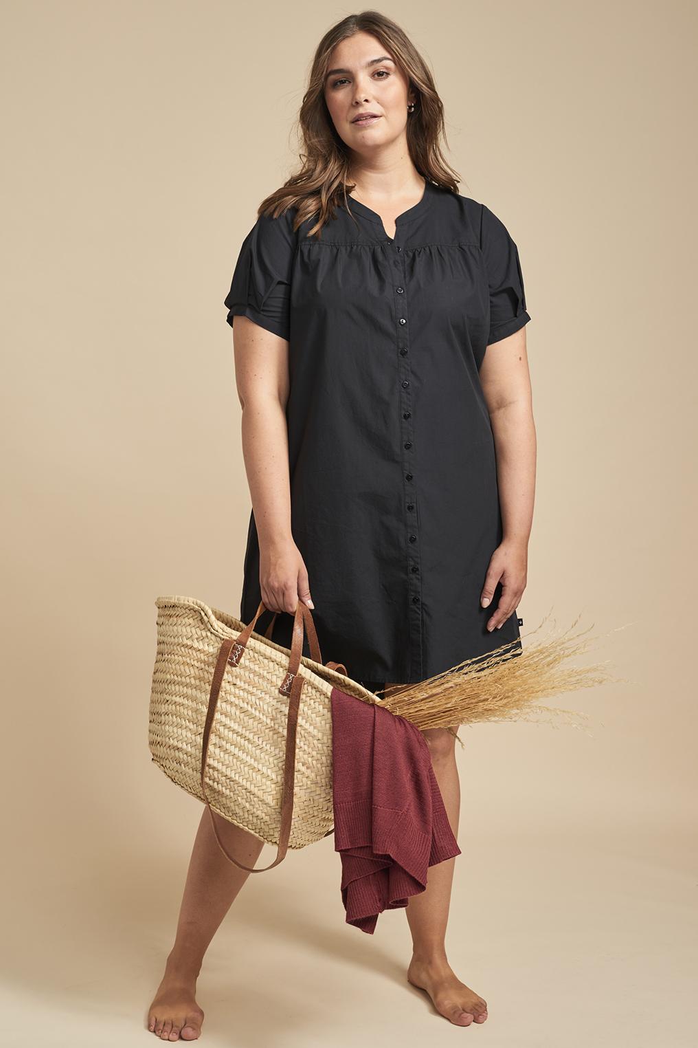 Adia jurk blouse look voor korter