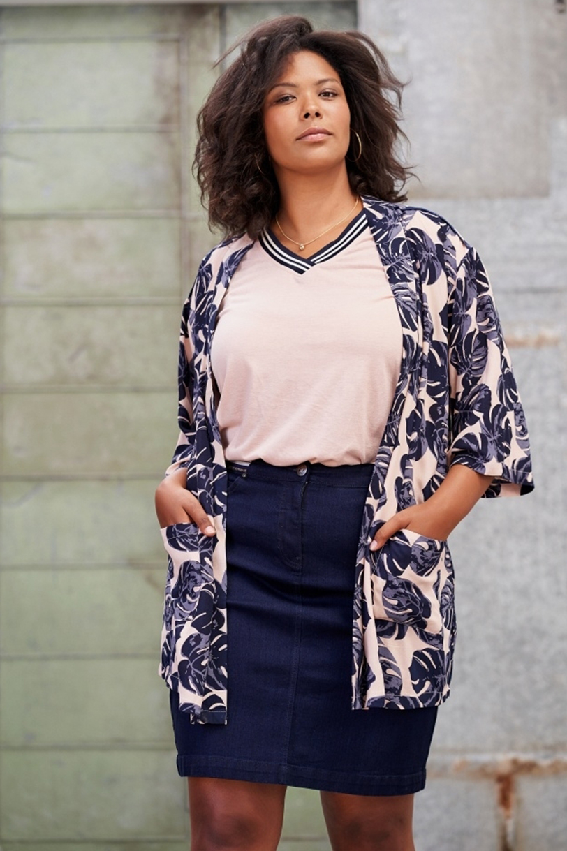 Jasje Adia blad print kimonolook