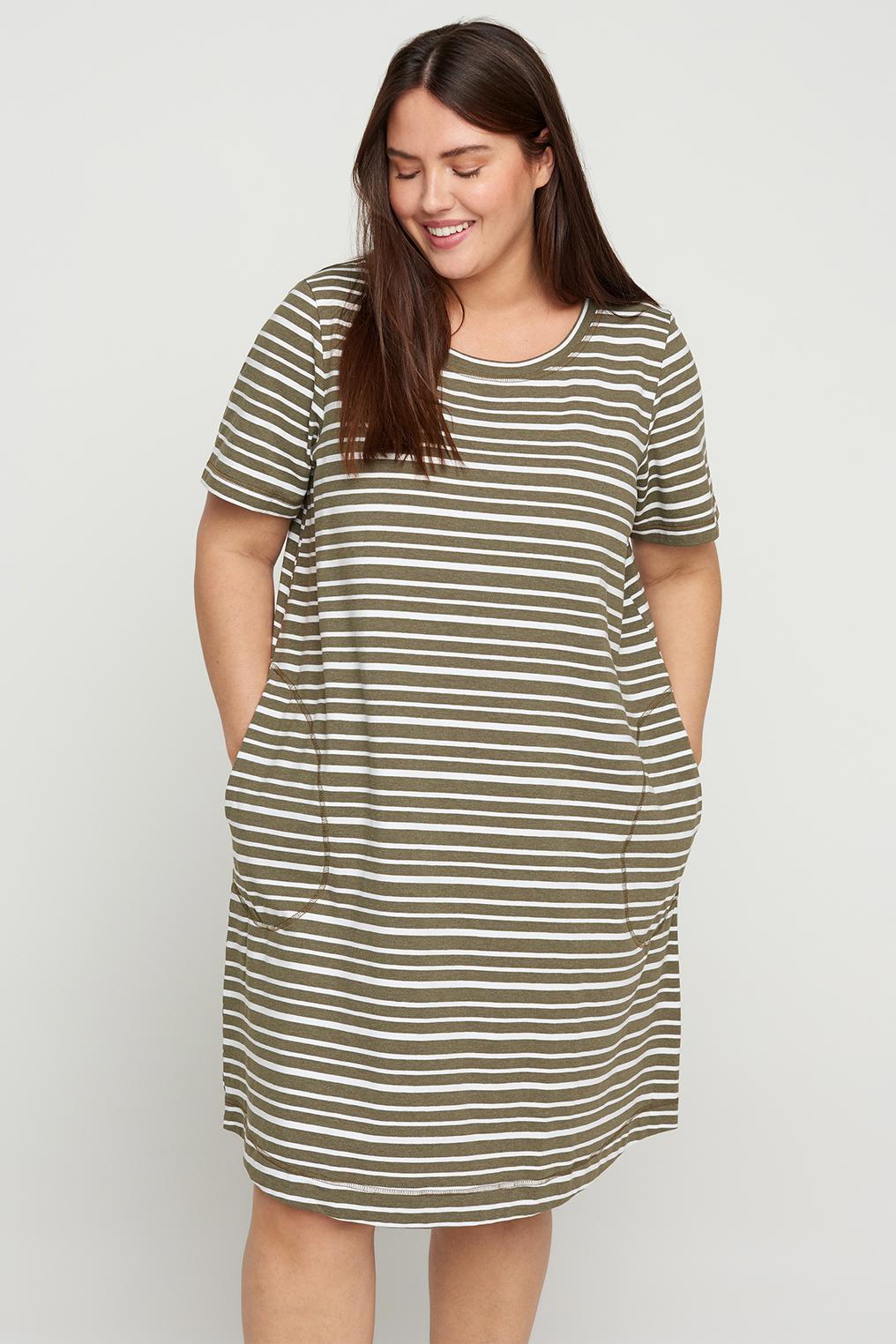 Zizzi jurk CADORIT A lijn tricot