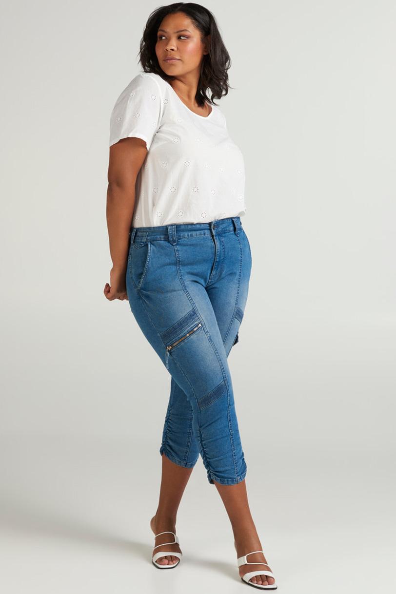 Jeans HEDDA Zizzi 3/4 details