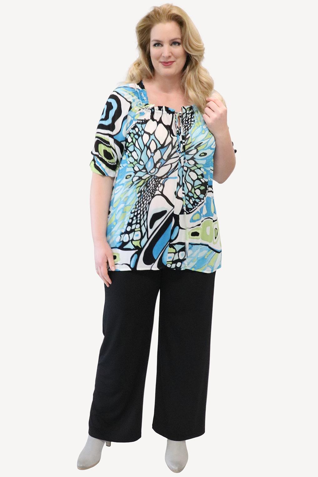 Shirt Ophilia Jasmijn aantrek hals
