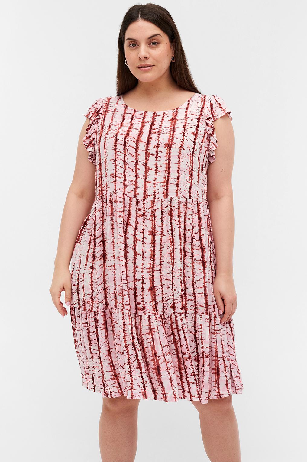 Zizzi jurk MAMALIE print rood
