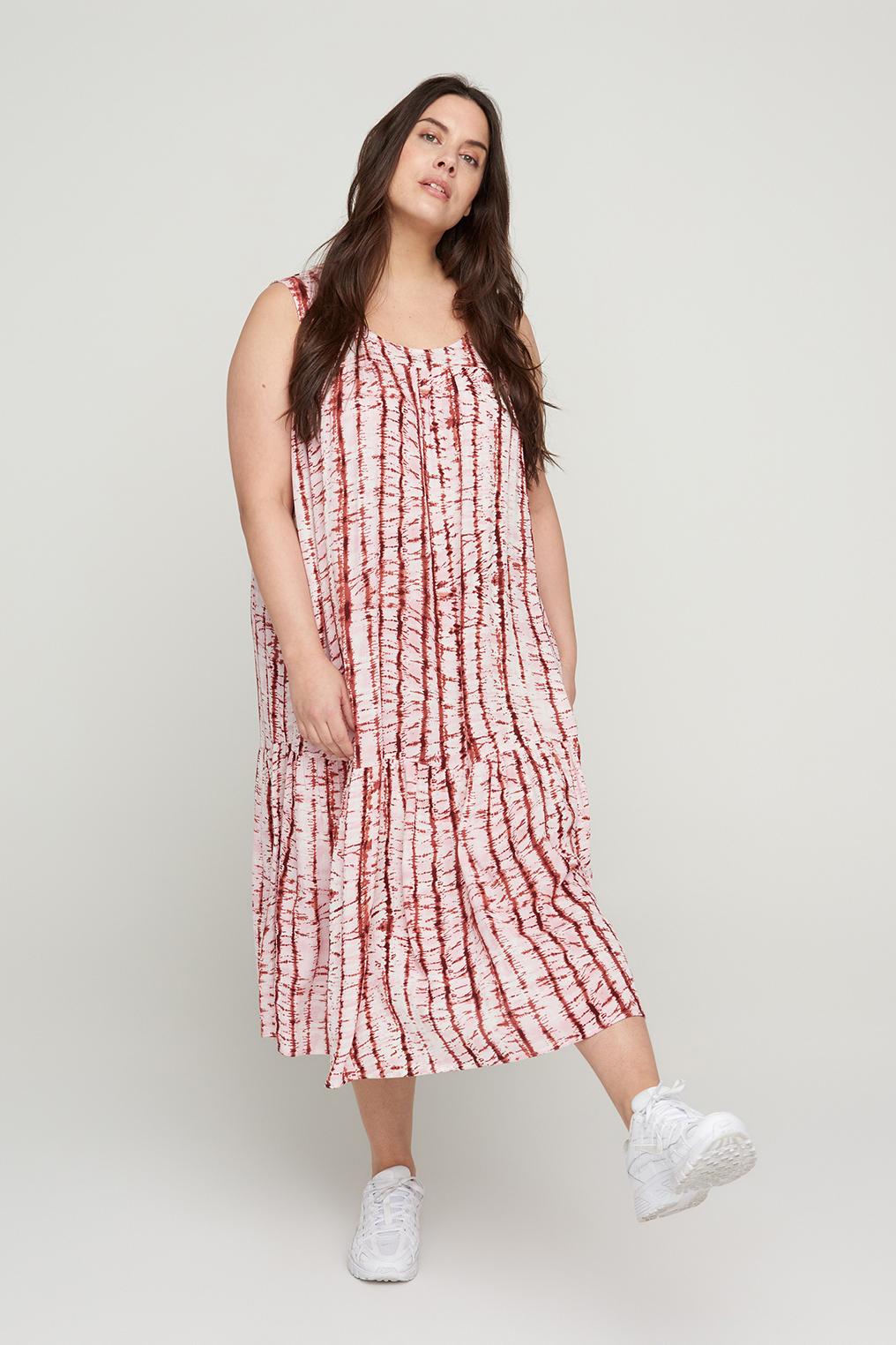 Zizzi maxi jurk MAMALIE rood print