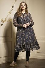 Zhenzi jurk PLUMA voile print gevoer