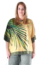 Tuniek Mat fashion palmprint combi