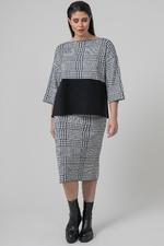 Mat fashion tuniek print uni combi