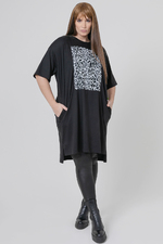Mat fashion tuniek grote print voor