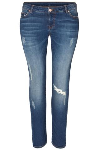 Grote maten Jeans Bird Junarose LW slim fit jens | 21001181dblu42