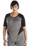 Grote maten Shirt Studio ronde hals sportswear | S1281zwar/mele42-44