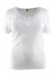 Shirt k.m. Toker v-hals met kant