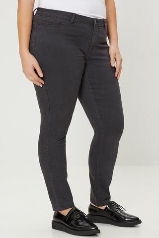 Grote maten Jeans QUEEN Junarose slimfit grey | 21002897grey/deni46