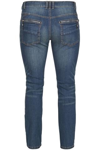 Grote maten Broek Zizzi Sanne slim jeans | J93339Adeni/B8242