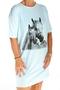 Shirt slaap one size paard opdruk