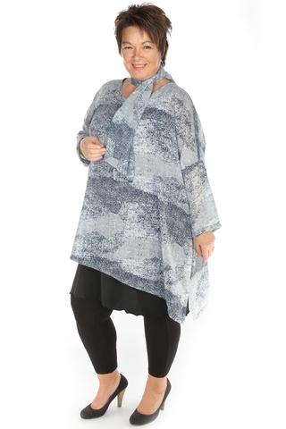 Shirt Bagoes wijd voile print