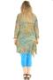Grote maten Blouse Leila crincel print Ophilia | LEILA M942-5geel/blau1=42