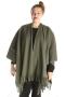 Grote maten Sjaal Boris poncho fleece | 8094blau/donk1 maat