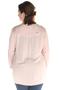 Blouse Maxima fashion franje hals | 72644roze/zach46