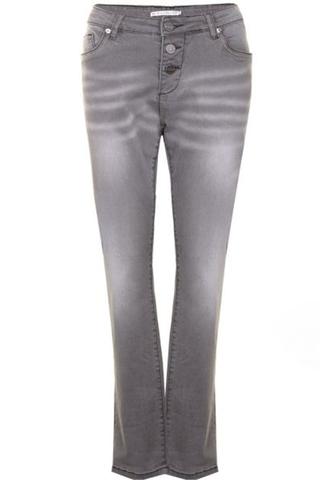 Grote maten Jeans Studio knoop gulp | S171801grey/deni54
