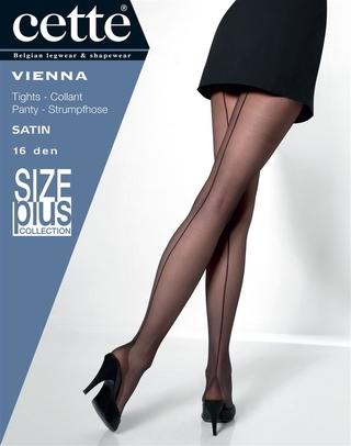 Cette panty Vienna 16den | 839-10Blac/902XL=48-50
