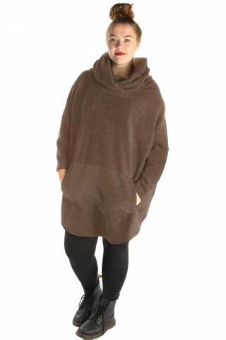 Trui Boris grote col fleece Big size | 6116Brood/melebig= 50-56