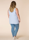 Blouse Yesta mouwloos rits achter