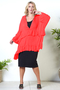 Grote maten Blouse Sophia Curvy wijd ruches | MG14103rood1 maat