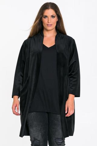 Vest Mat fashion velour losvallend
