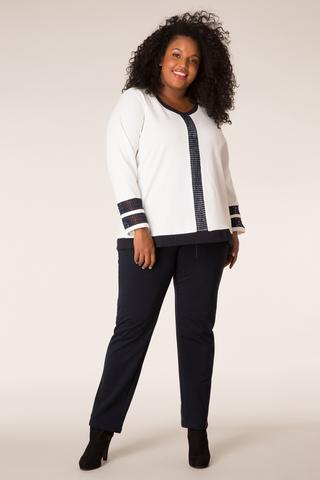Sweater Ivy Bella kant | 30722Pwhit/blue54/56(4)