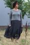 Jurk Luukaa poplin tricot combi