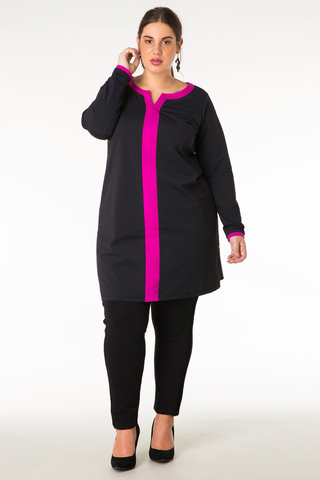 Tuniek Colletta zwart roze 95cm