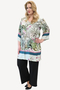 Grote maten Blouse  Cindy Ophilia Print | Cindy PrintLigh/Blue3=46