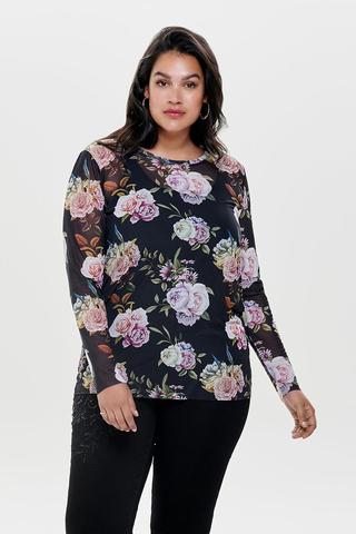 Shirt Only Carmakoma RIAL mesh bloem
