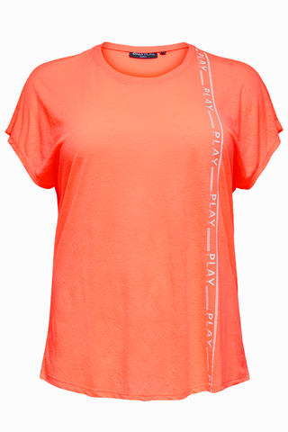 Grote maten Sportshirt Only Play LUNA loose fit   15163923Neon/Oran48/50